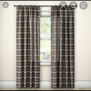 Nate Berkus Dark Gray Curtains (4 Panels)
